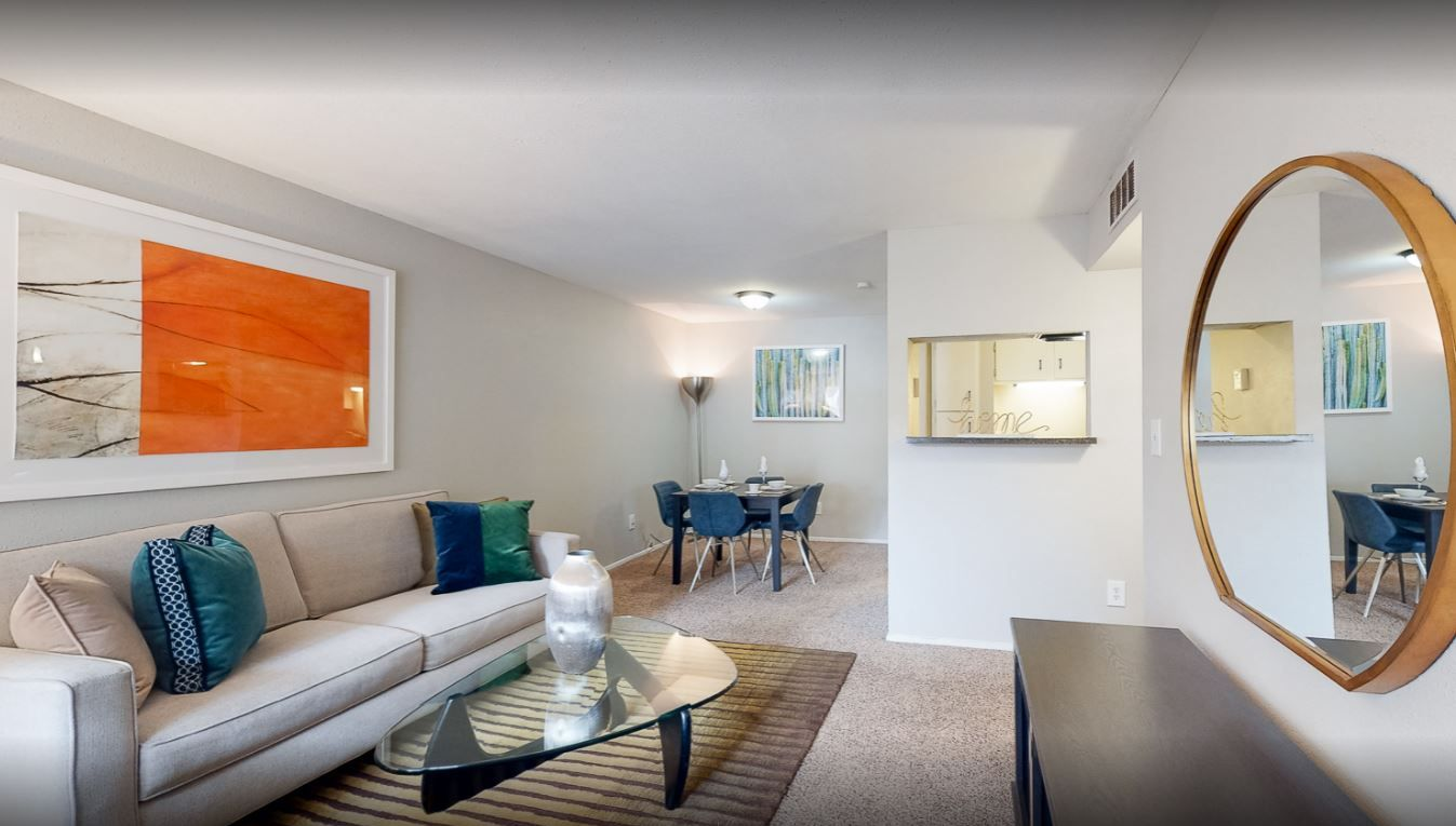 Bright living areas